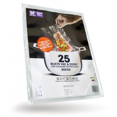 Confezione 25 Buste Vac & Cook per cucinare sottovuoto da 30x40 cm