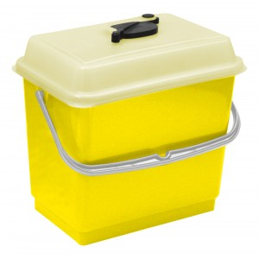 Secchio con coperchio 4 litri giallo