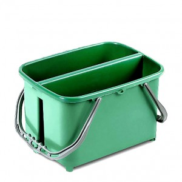 Secchio Slim verde doppio da 11+11 Lt.