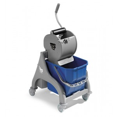 Carrello professionale per le pulizie Nick grigio 15lt con strizzatore Dry