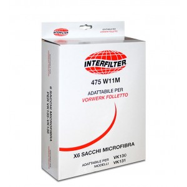 Confezione 6 sacchetti per Folletto VK 130 - VK 131