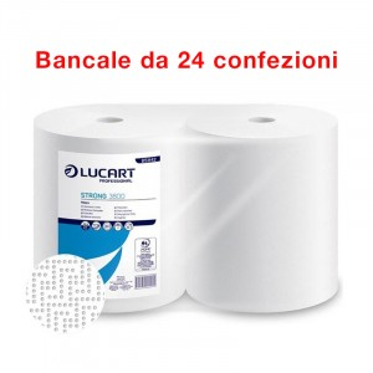 Bancale di 24 confezioni 2 bobine di carta industriali asciugatutto Strong Lucart
