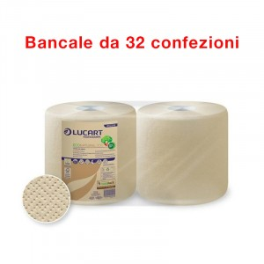Bancale da 32 confezioni di 2 bobine carta da 800 strappi Econatural 800 - Lucart