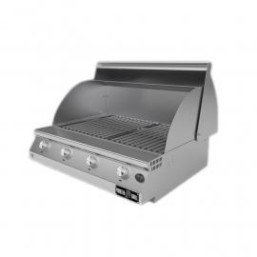 Barbecue a gas Fry Top 750 Basic da appoggio 4 bruciatori griglia scolo a V