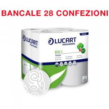 Bancale da 28 confezione 8 rotoli ciascuna carta igienica Eco Lucart