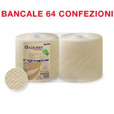 Bancale da 64 confezioni di 2 bobine carta da 800 strappi Econatural 800 - Lucart